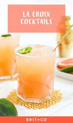 La Croix all day, errday. - 15 La Croix Cocktails to Start the Summer Off Right