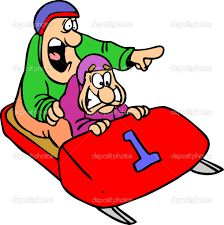 Image result for funny cartoon pictures of a bob sled team                                                                                                                                                                                 More