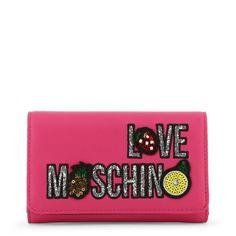 Love Moschino Pink Shoulder Bag Crossbody Clutch New Leather Wallet Crossbody Clutch, Clutch Wallet, Leather Wallet, Moschino Bag, Pink Shoulder Bags, Shop Rags, Card Wallet, Wallets For Women, Hugo Boss