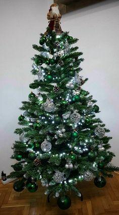 Christmas tree ideeas. Green. Silver. Shine. Mine