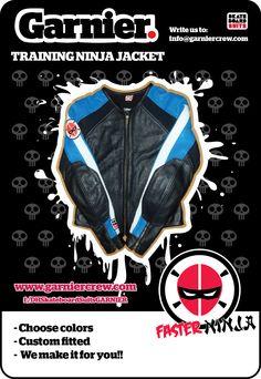 NINJA Training Jacket  info@garniercrew.com  https://www.facebook.com/GarnierCrew www.garniercrew.com