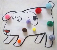 dogs colorful day  Children will laugh at the funny sounds and will help you keep count of Dog's colorful spots.  This works especially well using a flannelboard as a visual aid, while reading the book.