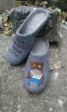 b750bd4e5 Обувь ручной работы. Валяные тапочки