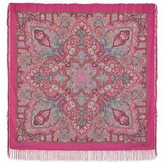 Huge Shawl Authentic Pavlovo Posad Pure Natural Virgin Woolen scarf Beauty Queen #PavlovoPosad #ShawlWrap
