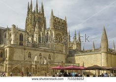View of the gothic Cathedral on August 27, 2017 in Burgos, Castile and Leon, Spain.