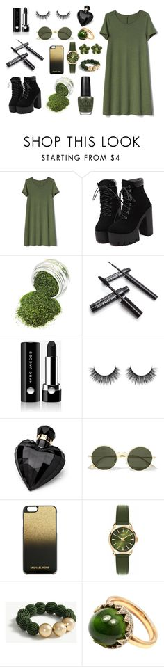 """""""lovely"""" by emilija-898 ❤ liked on Polyvore featuring Gap, Marc Jacobs, Lipsy, Le Specs, MICHAEL Michael Kors, Henry London, Ann Taylor and Pomellato"""