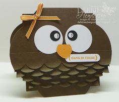 Owl card made with Stampin' Up! products by Debbie Henderson, Debbie's Designs.