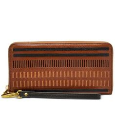 ff0cc4977c0c8 Fossil Emma RFID Large Zip Clutch Wallet   Reviews - Handbags   Accessories  - Macy s
