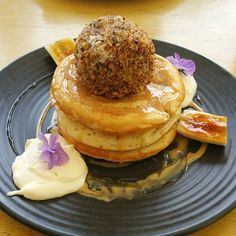 Back to Flinderz for banoffee pancakes with salted caramel and fried ice cream. Wow.   Morsels