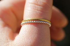 1 pearly solid stacking ring in sterling silver door FleurCaroline