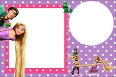 Tangled (Rapunzel) Free Printable Party Invitations
