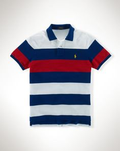75d5385a2c42 Buy Polo Ralph Lauren Contrast Block Stripe Polo Shirt, Chase Blue from our Men s  Polo Shirts   Rugby Shirts range at John Lewis   Partners.
