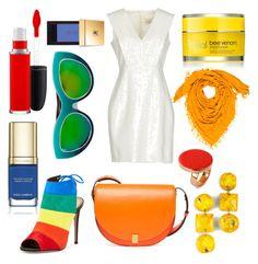 """Color My World"" by letsglambaby ❤ liked on Polyvore featuring Aquazzura, MAC Cosmetics, Yves Saint Laurent, Victoria Beckham, Rodial, Dax Gabler, Hermès, STELLA McCARTNEY and Dolce&Gabbana"