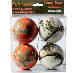 Reatlree Snow and Orange Camo Christmas Ornaments $7.99  #Realtreecamo