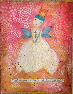 "Blue Fairy by nikimaki, via Flickr -- using the Balzer Designs ""Circle Explosion"" stencil"