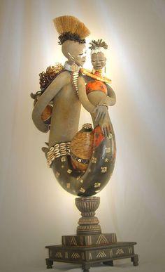gourd art........Primitive Pursuits by  Patricia C. Boyd