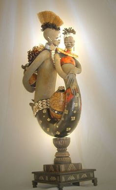 Patricia Boyd's fabulous gourd sculptures