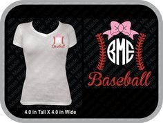 Baseball laces with monogram with bow Many colors to choose from! - pinned by pin4etsy.com