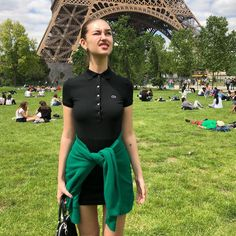 Polo Dress Outfit, Polo Shirt Outfits, Polo Shirt Girl, Polo Shirt Women, Cute Casual Outfits, Girl Outfits, Summer Outfits, Fashion Outfits, Lacoste