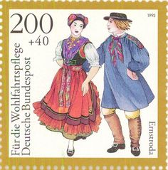 1993 Germany - Costumed dancing couple Ernstroda