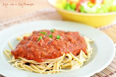 homemade (easy) spaghetti sauce