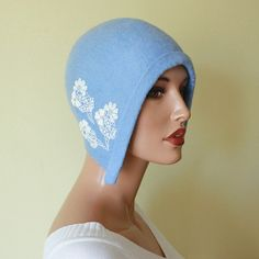 Light blue felt hat Felted hat Felt cap Felt hat Cap by ZiemskaArt