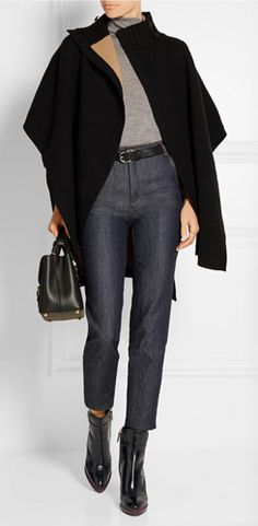 Image result for how to wear cropped pants in the winter