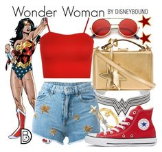"""""""Wonder Woman"""" by leslieakay ❤ liked on Polyvore featuring George & Laurel, ZeroUV, Alex and Ani, Mark Cross, Chiara Ferragni, Kasané, WearAll, BERRICLE, Converse and wonderwoman"""