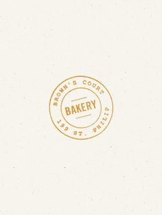 Browns Court Bakery stamp logo