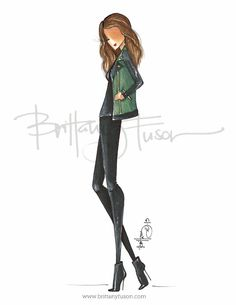 Utility #ootd #fashionillustration [ brittanyfuson.blogspot.com ]