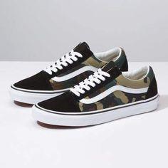 ac44ec19cfbb03 Woodland Camo Old Skool Vans Shoes Women