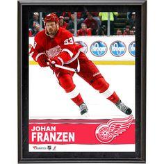 """Johan Franzen Detroit Red Wings Fanatics Authentic 10.5"""" x 13"""" Sublimated Plaque - $23.99"""