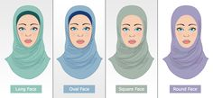 how to wear hijab for round face - Google Search