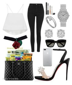 """"""""""" by jaidaxskye ❤ liked on Polyvore featuring Christian Louboutin, Topshop, A.L.C., Trish McEvoy, Audemars Piguet, Effy Jewelry, Cartier and Yves Saint Laurent"""