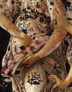 "barcarole: ""Detail from Primavera, Sandro Botticelli, "" Art And Illustration, Sandro, Primavera Botticelli, Renaissance Kunst, Giorgio Vasari, Art Through The Ages, Italian Painters, Pre Raphaelite, Hand Art"