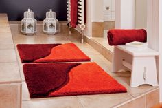 moderner badteppich auf ma teppich in elegantem design mit einer florh he von 18 mm und gro e. Black Bedroom Furniture Sets. Home Design Ideas