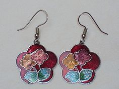 vintage-red-cloisonne-flower-dangle-earrings-pierced-p214.jpg 300×225 pixels