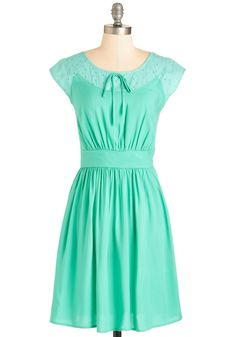 Dressed to Finesse Dress. Flaunt your savvy sensibilities in this mint-green frock. #mint #modcloth