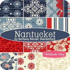 Nantucket Fat Quarter Bundle Bethany Berndt Shackelford for Quilting Treasures - Fat Quarter Shop