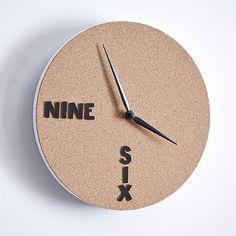 Horloge liège - Idées déco