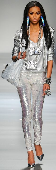 Trendy Silver Metallics from Blumarine :: Fall Ready To Wear 2012