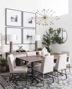 Neutral dining room via leclairdecor The Dining Room Decorating Guide modern farmhouse dining room with console table decor Dining Room Console, Dining Room Walls, Dining Room Design, Dining Room Furniture, Small Dining Rooms, Living Rooms, Small Living, Modern Living, Mid Century Modern Dining Room