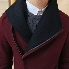 Thicken Lengthen Men's Woolen Coat