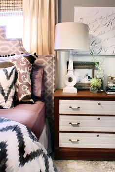 the HUNTED INTERIOR: HOME TOUR...great mix of pattern and texture