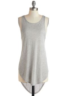 Sooner or Layer Top - Long, Grey, Solid, Casual, Travel, Minimal, Racerback, Summer, Jersey, Scoop