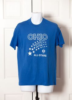 A personal favorite from my Etsy shop https://www.etsy.com/listing/259930234/vintage-ohio-all-stars-blue-basketball