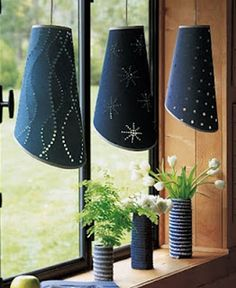 20 Amazing DIY Denim Ideas - Make cute hanging lamps out of denim