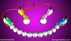 Hungry Hungry Hippos Necklace & Earrings  - concept only, by Dave Delisle. Now, somebody make these!