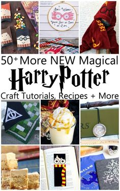 MORE Magical Harry Potter Projects, DIY and Crafts, Crazy huge collection of unique and original Harry Potter craft tutorials, recipes, book lists and more. So many magical projects. Classe Harry Potter, Cumpleaños Harry Potter, Harry Potter Halloween, Harry Potter Christmas, Harry Potter Birthday, Harry Potter Activities, Harry Potter Crafts Diy, Harry Potter Themed Gifts, Harry Potter Classroom