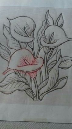 17 sites with fun and free hand embroidery patterns – Artofit - Salvabrani Pencil Art Drawings, Easy Drawings, Drawing Sketches, Embroidery Patterns Free, Hand Embroidery Designs, Painting Patterns, Fabric Painting, Fabric Paint Designs, Flower Art